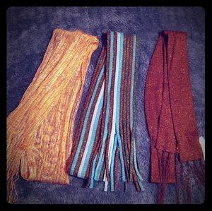 Set of 3 Scarves Women's Sparkly Neutrals